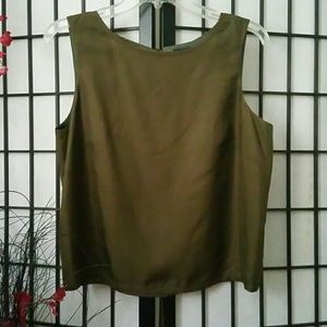 Ann Taylor olive green top